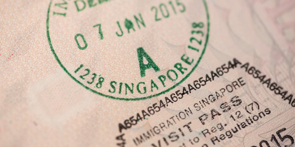 Печать Сингапура на паспорте