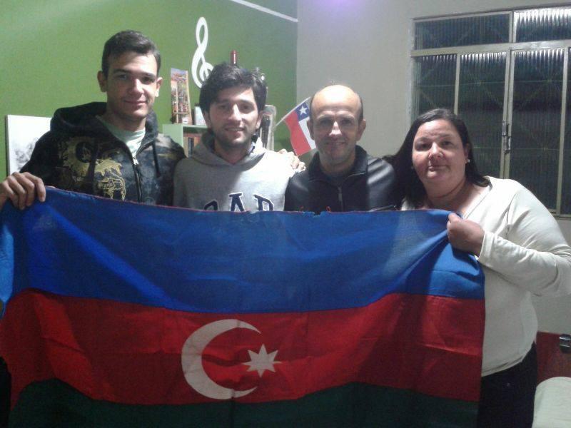 Флаг Азербайджана в Фавеле