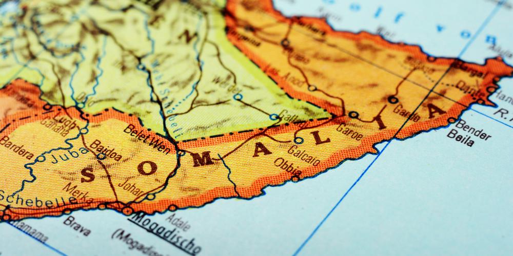 Сомали на карте
