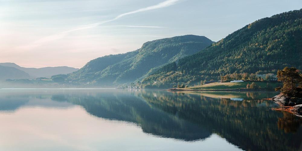 Озеро в Европе